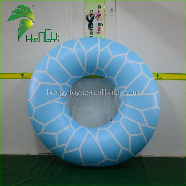 inflatable blue swimming ring (1)