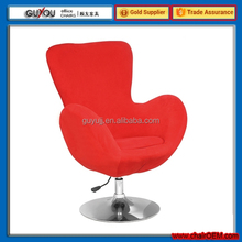 Y-1025B Bright Red Leisure Adjustable Swivel Bar Chair/Egg Chair For Living Room