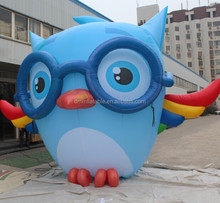 owl shaped inflatable/giant inflatable owl cartoon for promotion