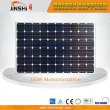 High Efficiency Mono Module 250 Watt Photovoltaic Solar Panel