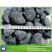 Black rocks for landscaping Size 3-120mm