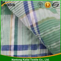 polyester cotton stripe seersucker fabric