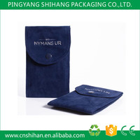 Hot sale popular style velvet jewelry pouch with hot stamping for watch