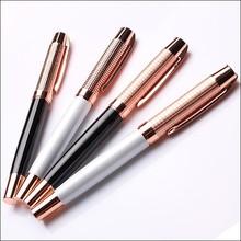 Heavy innovation design for Rose gold metal roller pen as gift away