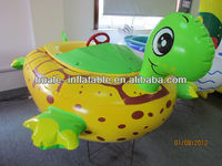 Yellow sea turtle pop pop boat toy/bumper boat