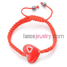 braided heart rate monitor red string bracelet