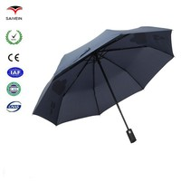 taobao hot new small-lot purchase 21''8k 3 folding change color when wet umbrella gift