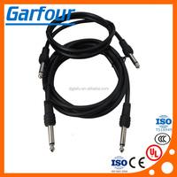 DC 6.3 plug/6.3 stereo plug with cable/ stereo plug