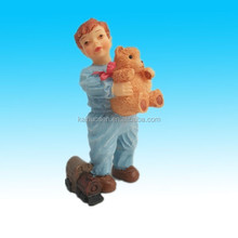 Best gift Resin stand boy Doll with bear toy