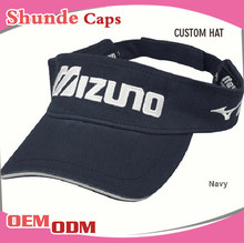 Wholesale UV Protection Sun Visor Cap Hat Custom Plastic Sun Visor Cap