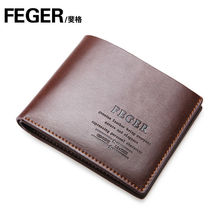 Feger Brand Leather Men Wallet Wholesale Leather Purse for Men