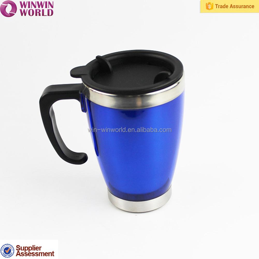 Handle Cup 2016 Design Food Grade Hot Coffeemug With Lid