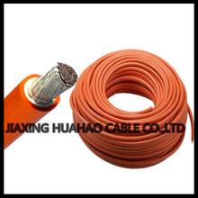 calibre de pvc transparente con cubierta de cobre del conductor del coche cable de alimentación