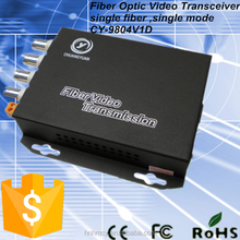 4ch Humanity Digital Video, Ethernet, Data, Audio to Fiber Converter
