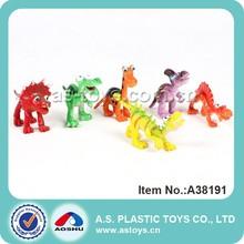 6 pièces colorées mini dinosaure dessin animé