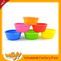 Hot selling pet dog products high quality collapsible dog bowl