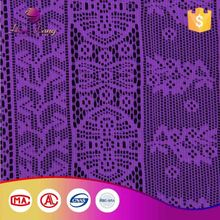 Custom Printed Lace Sequin Fabric Purple