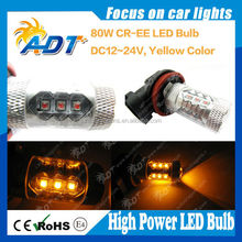 ce ROHS certification high quality 1000LM 80W front turn signal indicators yellow white blue red green