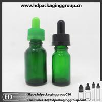 15ml 30 ml european green glass dropper bottle for perfume oil e liquid