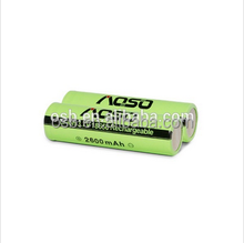 sales price 100% original 18650 2600mah aosibo 18650 rechargeable battery ,with nominal voltage 3.7v liion battery hig power aa