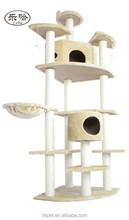 "New 80"" Beige Cat Tree Condo Furniture Scratch Post Pet House cat hammock bed"