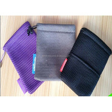 Durable small drawstring mesh bag for cosmetic,promotion mesh bag wholesale with drawstring