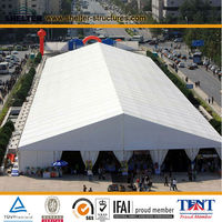 20x60m pvc aluminum structure big clear span cheap event large quick removeable inflatable pvc fabric storage warehouse tent