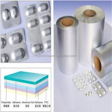 capsules and pills packaging cold form laminate foil ( alu alu foil)