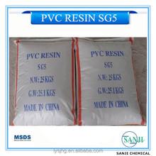 SG3/SG5/SG6/SG7/SG8 PVC Resin with K Value K67/K65/K68