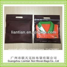 personalizado die cut mango con cremallera bolsa de ropa interior