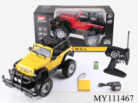 Luxury 1: 9 5-ch rc jeep car toy high speed 5ch remote controll car r/c jeep with charger and lights