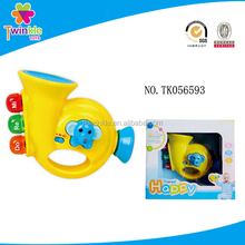 Twinkle toys yellow funny trumpet with light baby toys