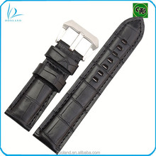 Wholesale real alligator leather watch band, real crocodile skin watch strap