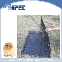 Ipet convenient outdoor carrying iron pet cage for dogs
