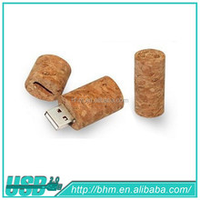 2015 best selling gadget advertising gifts usb 3.0 recycled wood wine cork shape usb flash drive