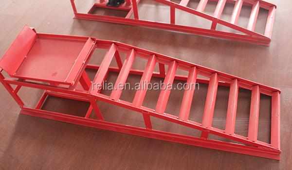 Metallic Red Cars Auto Ramp Set Car Ramp Metal