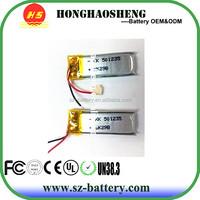 hot sale long cycle life rechargeable 3.7v 170mah lipo battery