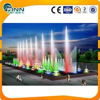 PLC Program control full color change led outdoor musical water fountain