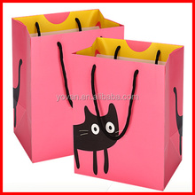 Pink Cute Double Panton Color Simple Cartoon Printing Shopping Bags