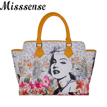 Marilyn Monroe print handbag 2015 fashion handbag in italy