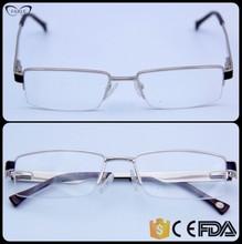 2015 Wenzhou glasses factory semi rimless square gold men glass frames online shopping