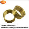 China manufacturer high precision lathe machine parts knurled brass lock nuts ISO9001/RoHS