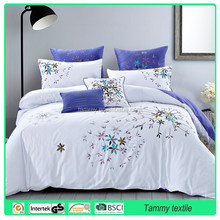 100% cotton comforter bedding sets, hand embroidery bed sheets designs cotton bedding sets