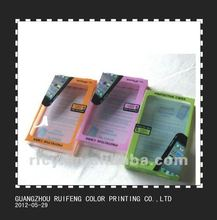 2012 hot sale clear plastic pvc folding box for iphone