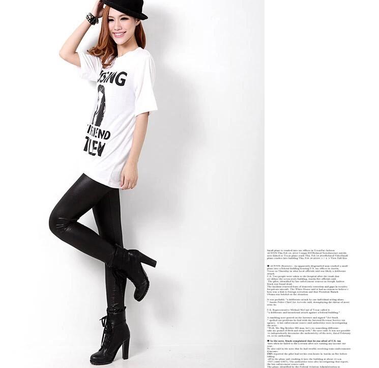 осенью и зимой женские ботинки брюки брюки моды дизайн высокого качества г-жа тонкие кожаные брюки леггинсы Цена 5105