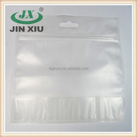Bottom gusset zippered clear plastic storage bag
