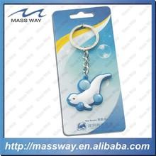 custom animal dolphin shape 3D cartoon Soft PVC keychain