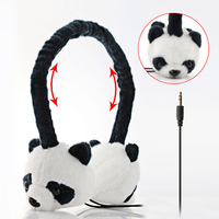 Giant panda earmuff headphone promotion for Christmas Day