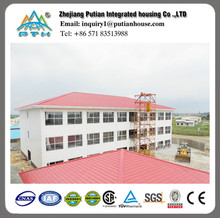 Prefabricated low cost steel structure construction building for hotel