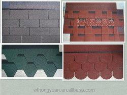 anti-UV colorful asphalt roofing shingles for villa/bitumen asphalt roof tiles/roofing tile